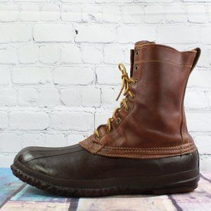 Vintage LL BEAN Leather Hunting Duck Boots 12